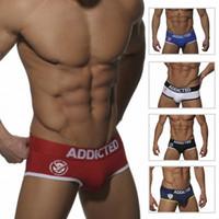 men underwear thong - 2016 Brand New fashion Addicted ADD006 ADD007 sexy men thongs g strings flags underwear cuecas underwear undershirt Boxers short