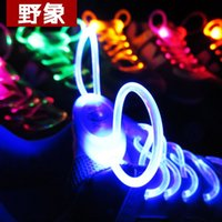 Cheap Shoelaces Party Skating Charming LED Flash Light Up Glow Shoe Laces Shoestrings Flashing Color Neon Shoelace Luminous 10Pairs Free Shipping