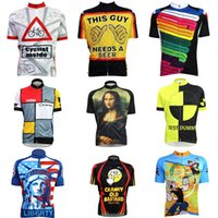 Wholesale Hot sale new Cycling Shirts Tops Men Bike Riding Suits Cycling Jersey Shorts Kits Top Shirt Knickers Set M XXL kinds of style