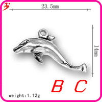 alloy marine products - Alloy ancient Silver Dolphin charms nautical pendants jewelry accessories marine products sea fish animal charm nautical items