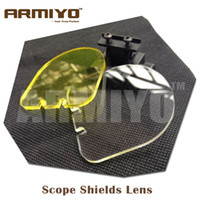 Wholesale Armiyo Hunting Airsoft BB Balls Bulletproof Lens Scope Shields mm Rail Mount Optics Holographic Gun Sight Shooting Protector