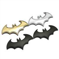 batman auto accessories - High quality D Cool Metal bat auto logo car styling car stickers metal batman badge emblem tail decal motorcycle accessories