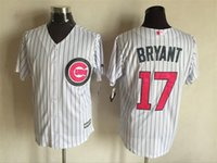 Wholesale New Baseball Jerseys Cubs Bryant Mother s Day Jersey White Pink Color Size M XXXL Mix Order All Polyester Jersey