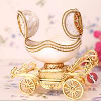 artwork jewelry - Home Decoration musical egg artwork eggshell jewelry box luxury handicraft Egg carving music box Birthday Crafts