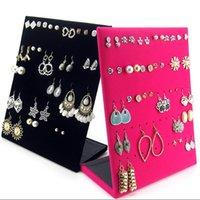 Wholesale Earrings Ear Studs Jewelry Show Velvet Display New Type L Rack Stand Organizer Holder Showcase