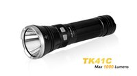 aa distance - Fenix TK41C is a high output AA flashlight that combines white red and blue LED light together distance to meters