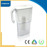 activated carbon material - Hot sell home use tabletop Fashion plastic housing and white color water filter pitcher AS material with standard carton package for sales