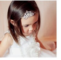 Wholesale multicolor fine crystal shining crown headdress with headdress crown of children in Europe and America zt14