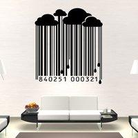 barcode wall sticker - Modern Style Wall Sticker Vinyl Waterproof Living Room Home Decor Rain Fall From The Cloud Barcode Wall Sticker