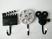 Wholesale Decorative Wall hooks Hanger old film cut board camera finish vintage antique creative home decoration