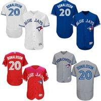 Wholesale Postseason Patch Men s Toronto Blue Jays Josh Donaldson Flexbase Collection baseball Jerseys Stitched size S XL
