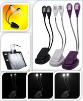 Wholesale Booklight Led Ebook Light Mini Flexible Bright Clip Book Reader Reading Music Stand Lamp Desk for Kindle Arm Led B pink