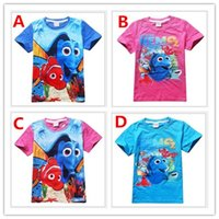TuTu Summer A-Line Cute Kids Cartoon Finding Nemo Dory T-shirt 2016 Summer New Boys Girls Finding Dory Short Sleeve T-shirt Tops Children Cotton Casual Tees