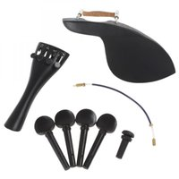 Wholesale 1 Set Ebony Wood Violin Parts Accessories Set