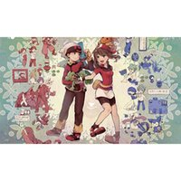 alpha character - alpha sapphire characters Pokermon Playmat Board Games Playmat Custom Big table pad Video Games Big Mouse pad Can also be custom