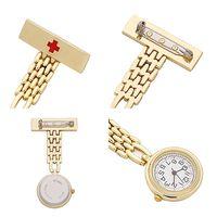 Wholesale Gold nurse watch for nurse calendar FOB pocket watch student doctor Japanese medical watch nurse brooch watch