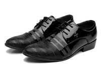 b young dresses - New man pointed leather shoes Leather business casual tide shoes young men hairstylist Fashion shoes wedding shoes at Oxford