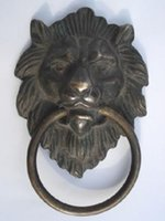 antique door knockers - Chinese Bronze Fierce Lion Head Door Knocker quot High quot High