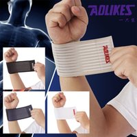 Wholesale 2016 cotton elastic bandage hand sport wristband gym support wrist brace wrap fitness tennis polsini sweat band munhequeira ZB HBK015