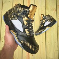 Wholesale 2016 Newest Retro Black Metallic Gold Scratch Color Mens Basketball Shoes Retros High Quality Retro s Shoes Online Sneakers