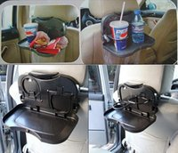Wholesale HHA85 Car back Seat Tray mount Food table meal Desk Stand Drink Cup Holder long distance travel dining tray