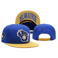 milwaukee - Milwaukee Brewers Caps for Men Top Quality MLB Hip Hop Snapback Hats Adjustable Flat Letters Sports Caps for Adults A037