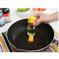 bbq sauce brush - 1Pc Sauce Honey Oil Wine Vinegar Liquid Bottle With Brush Baking BBQ Kitchen Gadget