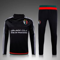 best running pants - 2016 Soccer tracksuits Best quality survetement football training suit sweat top soccer jogging pants chandal football