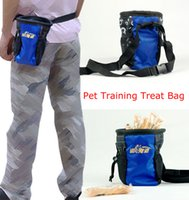 Wholesale Dog Pet Training Treat Bag Feed Pocket Puppy Reward Based Training Waist Pouch with Buckle Belt Side Pockets