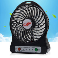 Wholesale USB Mini Fan Electric Personal Fans LED Light Portable Rechargeable Desktop Cooling Operated Battery Adjustable Speed