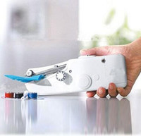 Wholesale Mini Sewing Machine Portable Hand Held Single Stitch Clothes Fabrics Household Handy Stitch Electric Gift