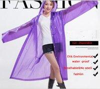 Wholesale high quality PVC thicken Raincoats Poncho Rainwear Fashional Travel Rain Coat Rain Wear gifts mixed colors non Disposable