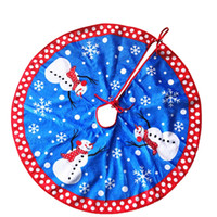 apron cases - 2016 New Christmas Snowman Lint Tree Apron Xmas Tree Skirt Print Plush Carpet Case Decoration jubilant Festival New Year Indoor Decoration