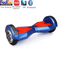 Wholesale 8inch APP Cellphone Controlled Wheels Balance Scooter Kick Scooter Electice Scooter Bluetooth Cheap Hoverboard