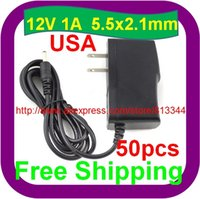 Wholesale 50 US PLUG V A Power Supply AC V To DC Adapter For Strip LED