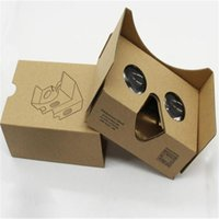 Wholesale 3D VR Boxes Google Cardboard Glasses Paper Vr Boxes Glasses Virtual Reality D Viewing Google II Glasses for Smart Mobile Iphone plus