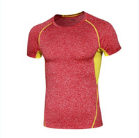 Wholesale Outdoor Sports Body Building Clothes Men s Sports T Shirt Sportswear Yoga Outfits Fitness Compression Shirt Elastic Tight Top Coat