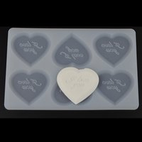 Wholesale I Love You in Love Shape Chocolate Plugin Mold for Cake Decoration Silicone Baking Moulds for Parties or Celebritions Pastry Tools White