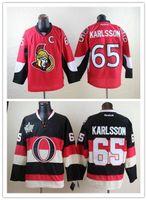Wholesale Cheap Ottawa Erik Karlsson Hockey Jerseys Heritage Classic Cream Black Home Red Erik Karlsson Stitched Jersey C Patch