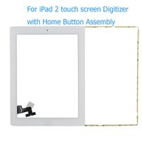 Wholesale Front Panel Black White Screen Touch Glass Digitizer Replacement Home Button Assembly Frame Tools For iPad nd