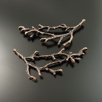 14k findings - New Fashion Red Copper Branch Alloy Pendant Charm Jewelry Finding mm AU35351 jewelry making DIY hot sale