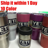 12 oz bottles - In stock color yeti Stainless Steel tumbler water bottle Yeti Rambler Tumbler Stainless Steel oz OZ can coolers Colster