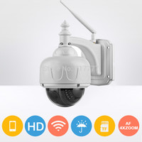 Wholesale 2016 hot sell x720P Wireless PTZ IP Camera MP MM AUTO FOCUS Pan Tilt Zoom TF SD Card Slot IR Low Lux ONVIF Camara