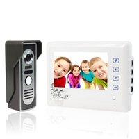 Wholesale 7 Inch Video Door Phone Video Intercom Doorbell Home Security Camera Monitor Camera Night Vision V1 F1638B