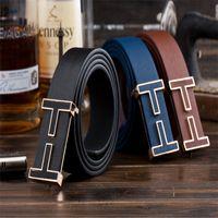 Wholesale Mens Designer Imitation Leather T Waist Strap High Quality Belts for Men Women Buckle Leisure PU leather belts
