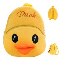 baby duck shop - Cute Yellow Duck Design Plush Backpack Baby Kid Birthday Gift Plush Backpack Shopping Travel Backpacks for Kids