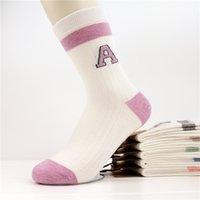 Wholesale JLY Women s Socks Autumn and Winter Baseball in Harajuku Tube Socks Letter Sosks Korean Alphabet Sports Socks Manufacturers Supply Orders