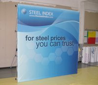 Wholesale Logo backdrop Fabric Velcro POP up display Tension POP up banner Trade Show Booth Display STRAIGHT POP up backdrop