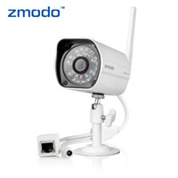 Wholesale Waterproof Zmodo ZP IBH13 W P DC V A Wireless Wifi Network Security Camera IP Camera Webcam IR Night Vision
