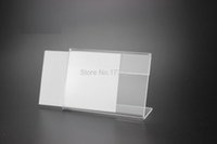 acrylic sign holders wholesale - 9 cm T MM Clear Acrylic Sign Holder Price Tag frame Display Stand Table name Card Stand Holder label frame